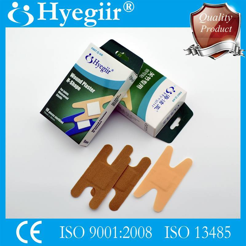 Boxed H-shape knuckle wound plaster & adhesive bandage