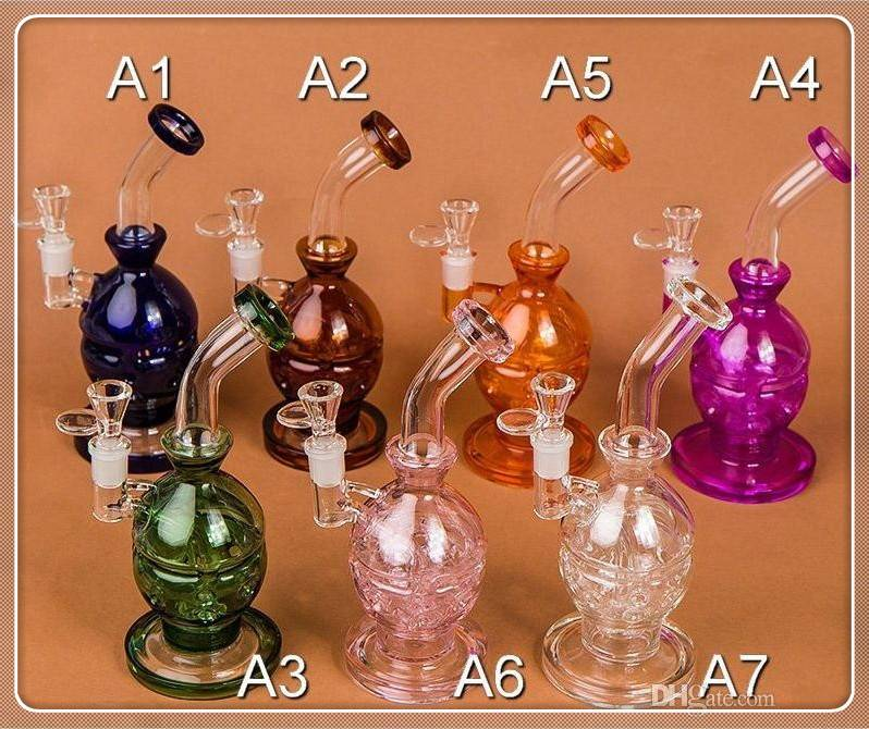 Double Layer Glass Bong 9.4 Glass Pipes Faberge Eggs Perc Water Smoking Pipe With 2 Glass Bowl 28CM