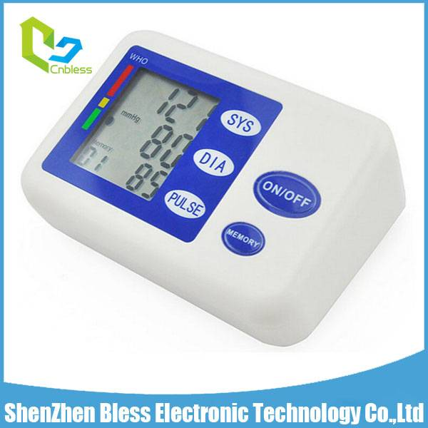 BLS1102 CE Approved LCD Screen Upper Arm Digital BP Monitor