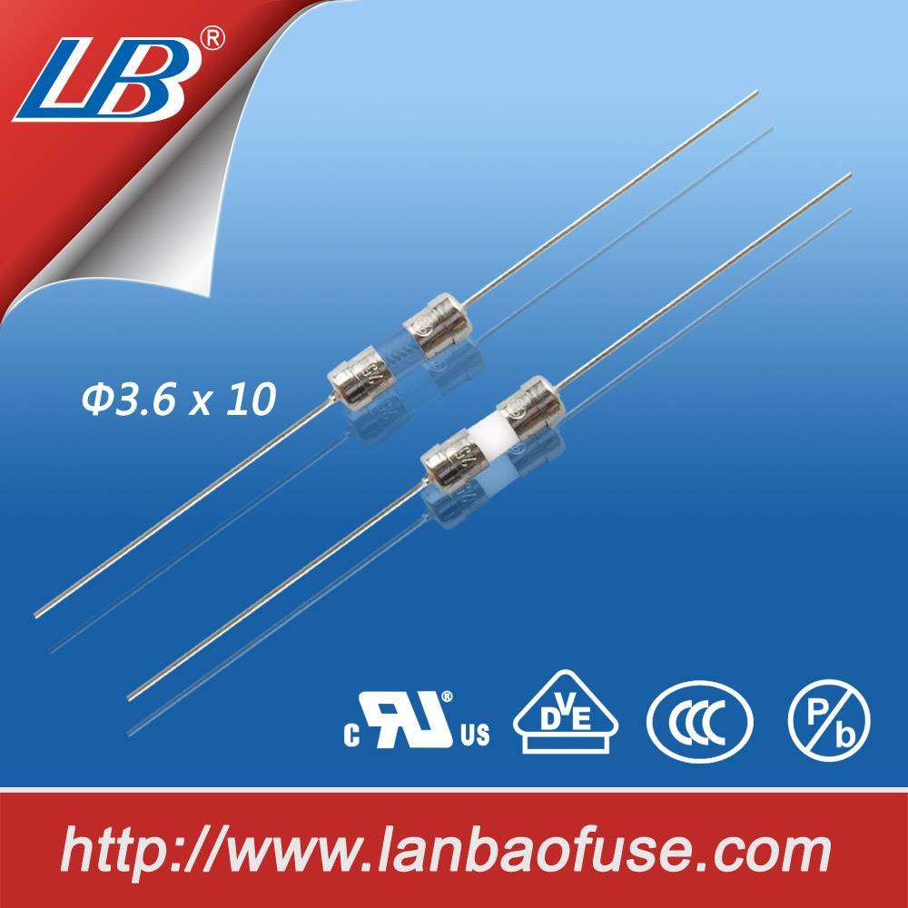 Hot 3.610mm 250v cermic tube fuse with lead