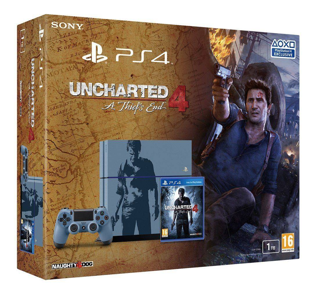 Sony PlayStation 4 1TB Uncharted 4: A Thief's End Special Edition Console NEW
