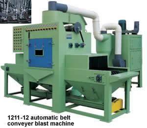 Automatic belt conveyer sand blast machine