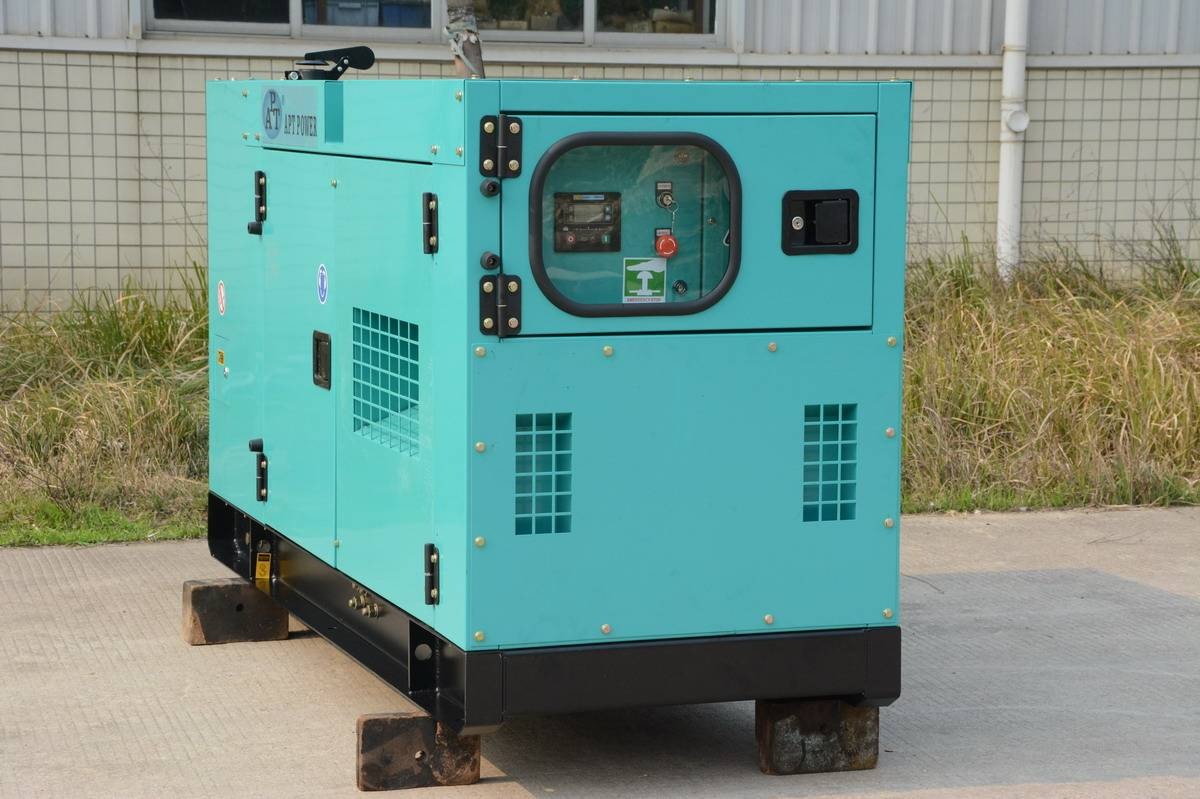 Perkins Generator Set with Soundproof Canopy Copied Denyo