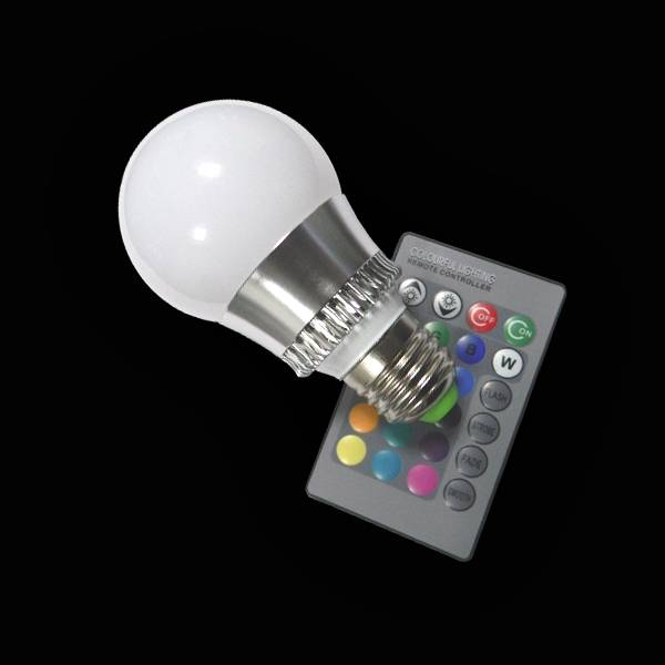 AC 90-260V led Bulb light with Remote Control multiple colour