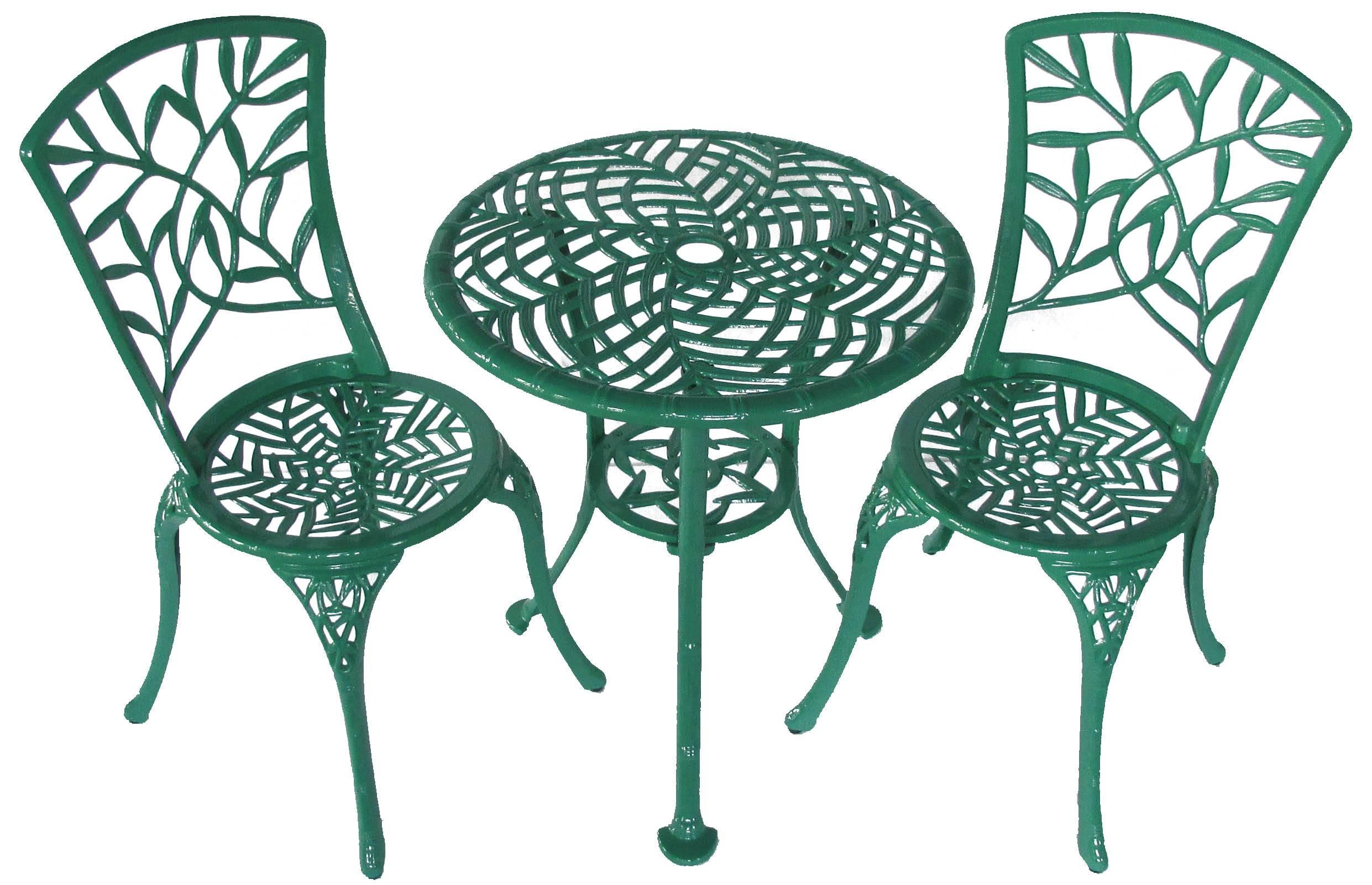 3-piece lowes wicker patio furniture/cast aluminum bistro set