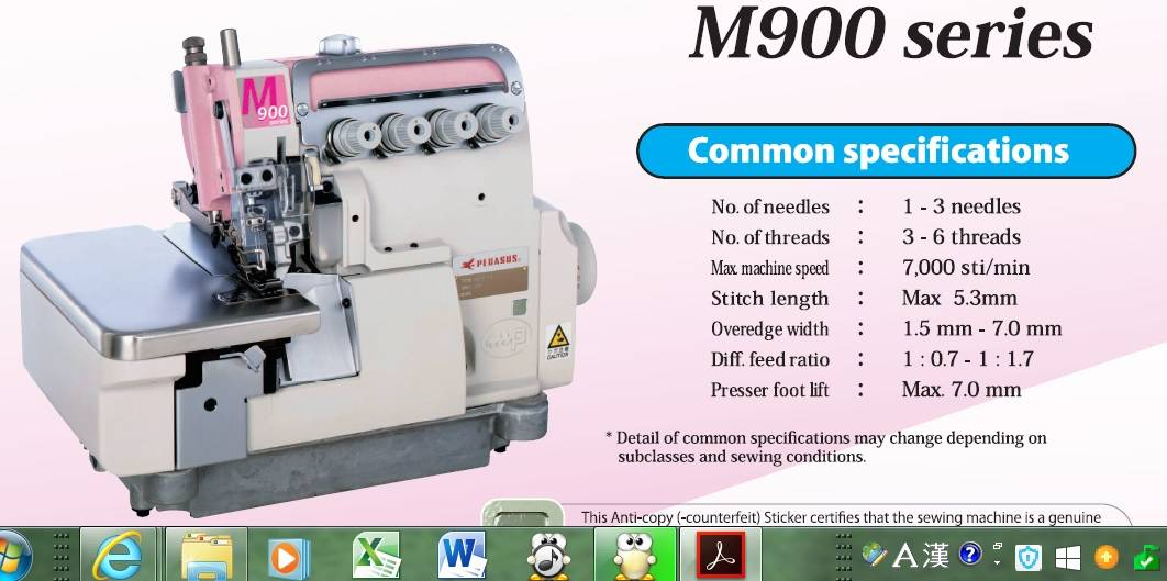 stitch machine, overedger and sewing machines