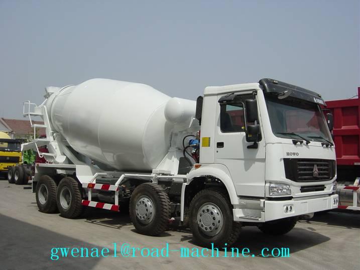 Concrete Mixer Trucks 371HP 10cbm 8x4 with EURO2 Standard , Diesel Truck ZZ5257GBJBM4047N1