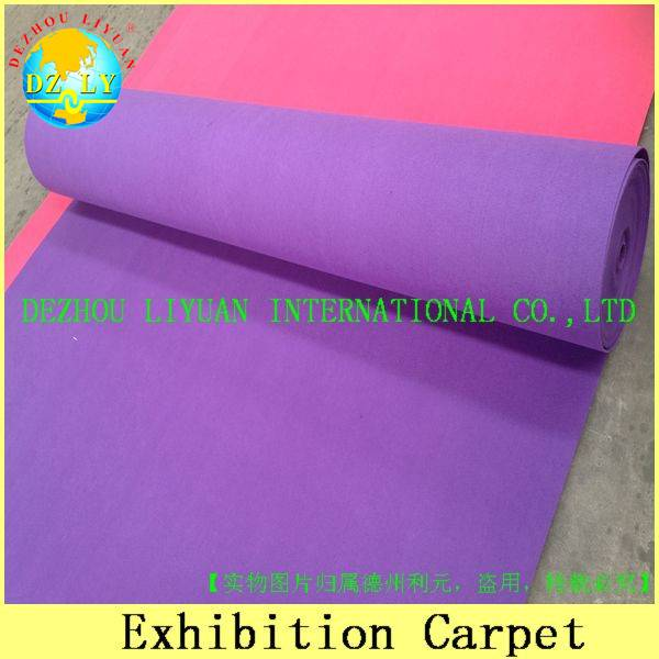 100% polyester needle punch exhibition carpet