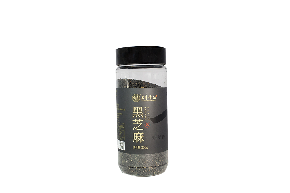 Roasted black sesame seeds 200g/Bottle