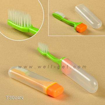 travel airlines toothbrush with toothpaste inside
