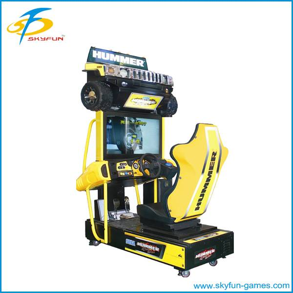 Arcade amusement electronic driving car game machine