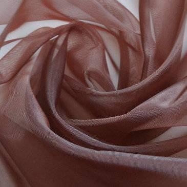 Netscoco Shoes Plain Weave Nylon Mesh Coffee Color