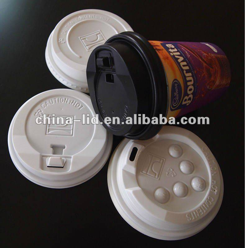 disposable plastic cap for coffee cup in China