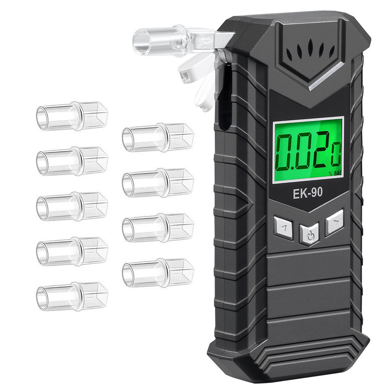 2020 Newest Private Mode Rechargeable Electronic Display Alcohol Breath Tester