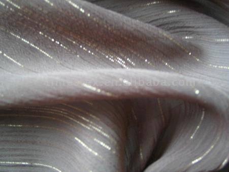 golden yarn chiffon fabric