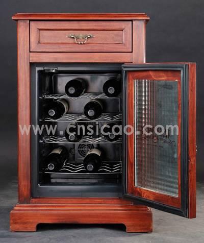 wine cooler,wooden wine refrigerator,wooden furniture,dining room furniture