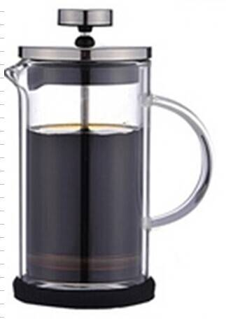 Top quality 600ml borosilicate double wall glass french press coffee maker
