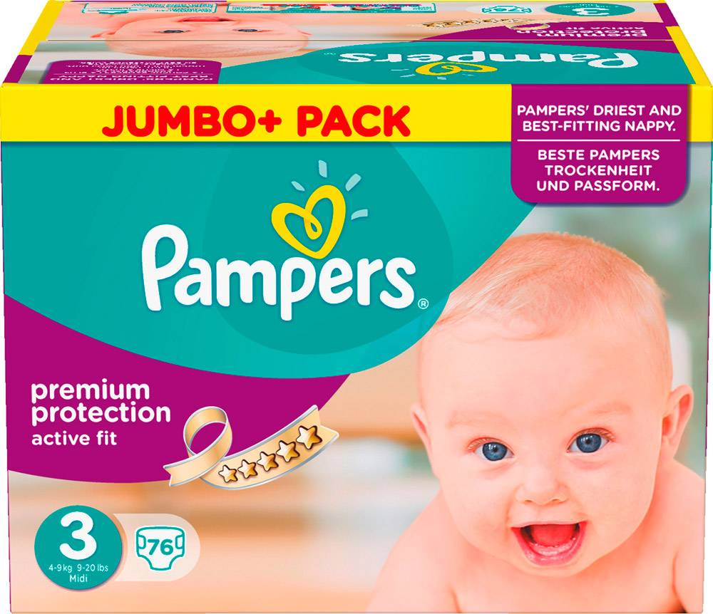 PAMPERS DIAPERS NAPPIES