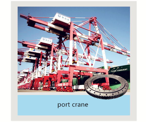 Slewing Bearing used on port crane, Xuzhou Zhongya Engineering Machinery slewing ring