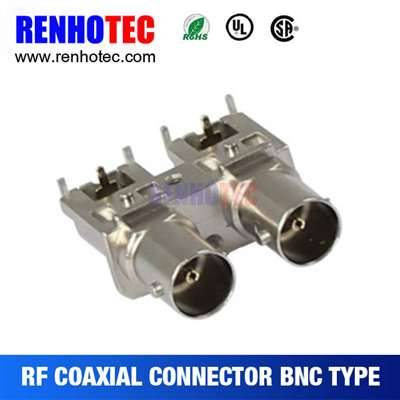 75OHM Right Angle BNC Jack Connector For PCB Mount