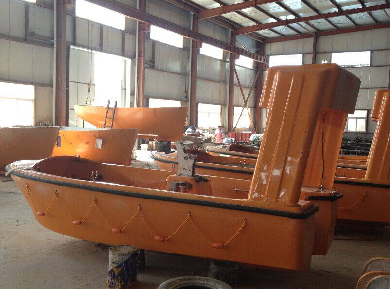 SOLAS Open Life boat 25persons with engine Davit for lifesaving
