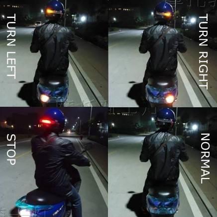 LED Wireless Helmet Turn and Brake Light for Motorcycles