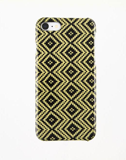 iPhone 7/8 Jacquard Yellow Carbon and Aramid fiber case