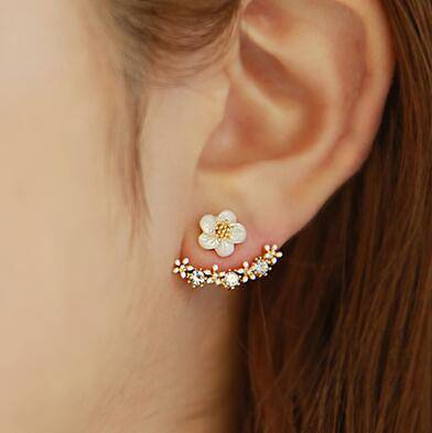 wholesale Fashion Gold plated CZ Micro Pave Diamond Stud Earrings for Women