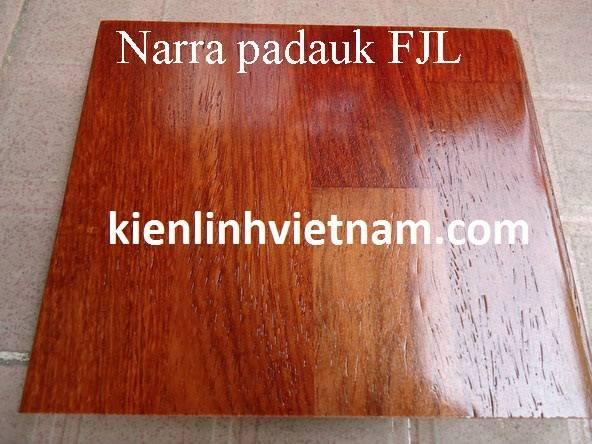 Narra padauk solid wood flooring