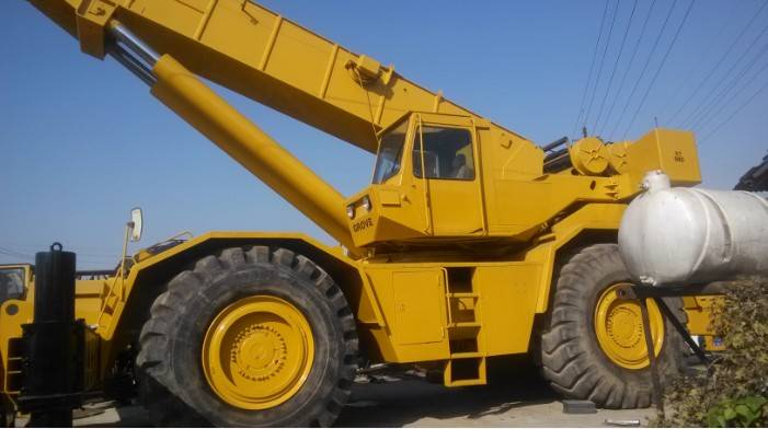 Used Grove 80ton terrain crane in good condition for construction