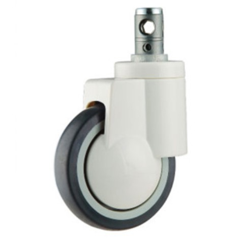Plastic single Ball Bearing Medical Caster With Central Control