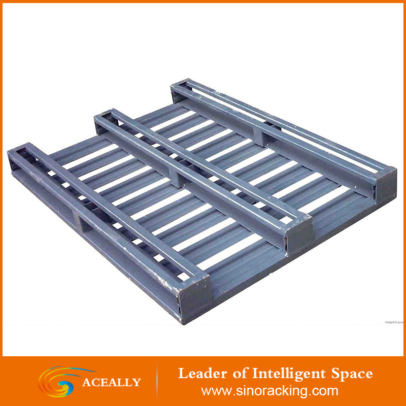 stackable steel pallet for warehouse
