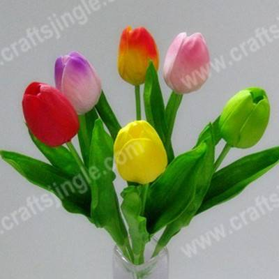 sell High-quality handfeeling PU tulip artificial flower for decoration
