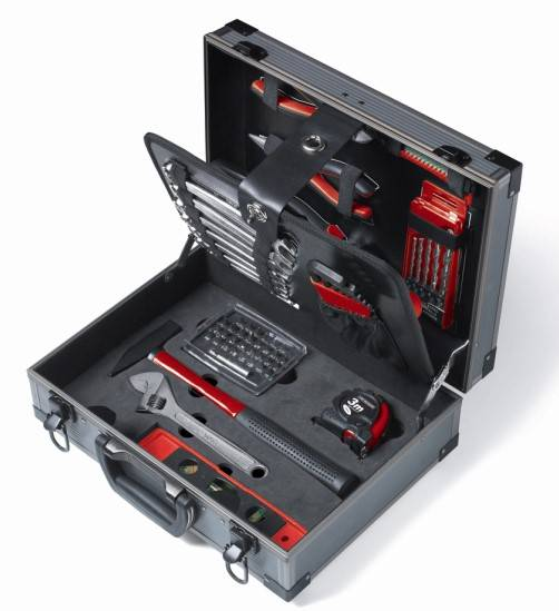 63pcs Aluminium Box Tool Kit