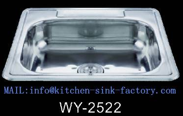 "25226 5 holes satin stainless steel sinks 25X22"""