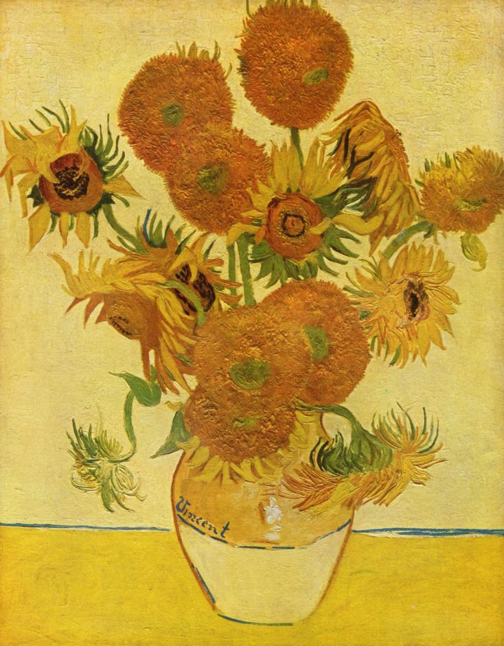 Still Life: Sunflowers Vincent Van Gogh