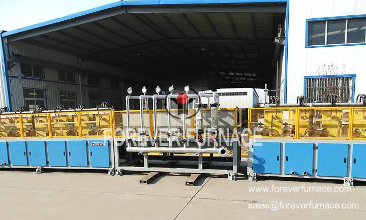 Steel pipe hardening and tempering machine