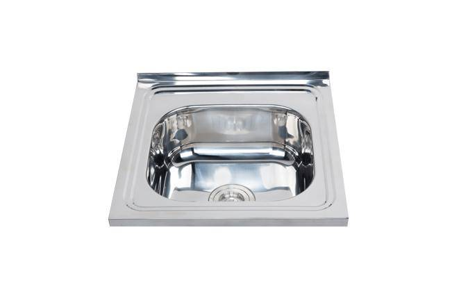 One piece finish single square kitchen sink WY-5050