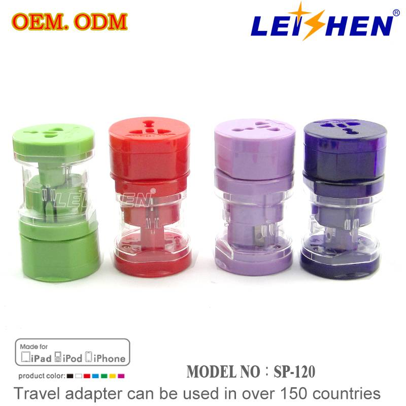 CE and RoHS Standard Universal USB Travel Adapter for Business Gift With Customer's Logo Accepted