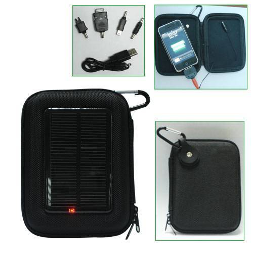 Solar charger bag with speake