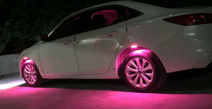LED Car Wheel Laser Rider Lights X4pcs