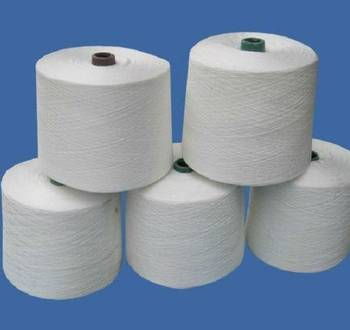ne 40s raw white weaving yarn in 100% polyester close virgin spun yarn