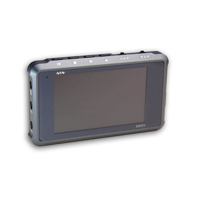 Pocket-sized Handheld Digital Storage Oscilloscope DS203 with titanium alloy Cortex M3 CPU 8M Hz