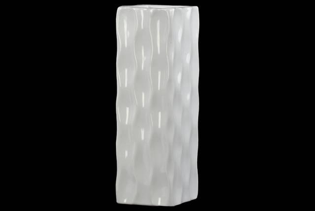 Ceramic Tall Square Vase
