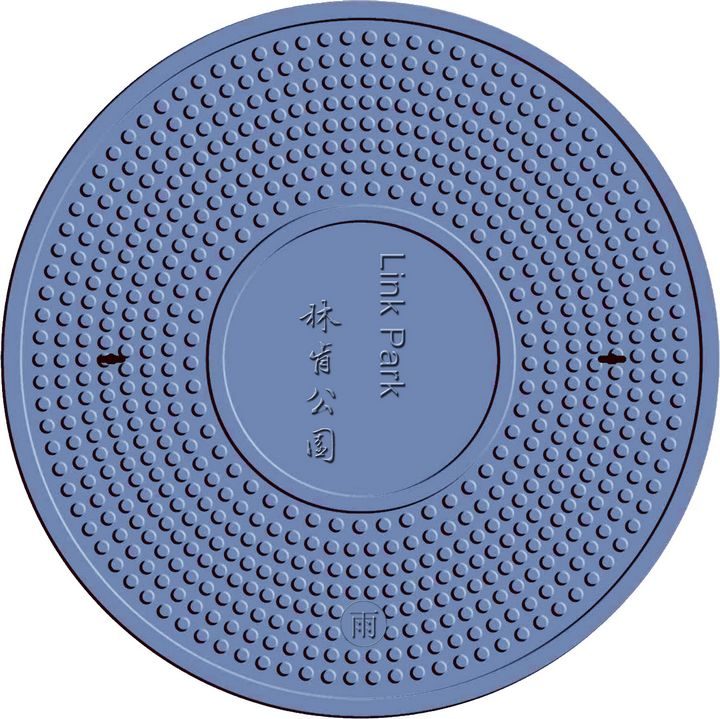 en124 SMC/BMC(DMC) composite round cover customized with CE