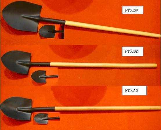 Shovel with Long Wooden Handle -S518 Many Types