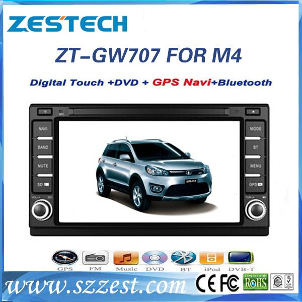 ZESTECH Wholesale brand new touch screen gps oem 2 din Car DVD FOR Great Wall M4 2012 car dvd gps