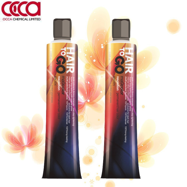 Professional permanent shiny hair color PPD free low ammonia hair color for salon use
