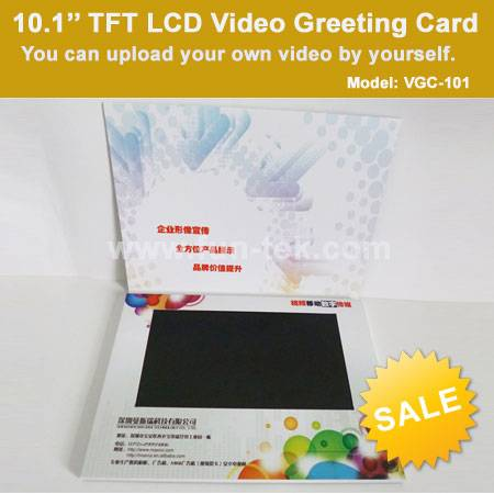 10.1 inch Video Greeting Card Brochure Booklet VGC-101