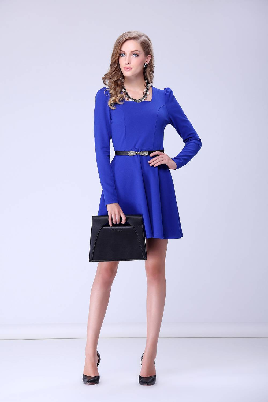 medium length slim wrap casual dress